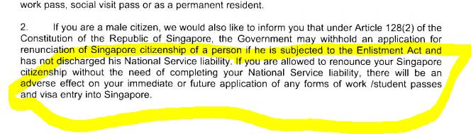 Procedure for NS deferment and renunciation? • Singapore Expats Forum