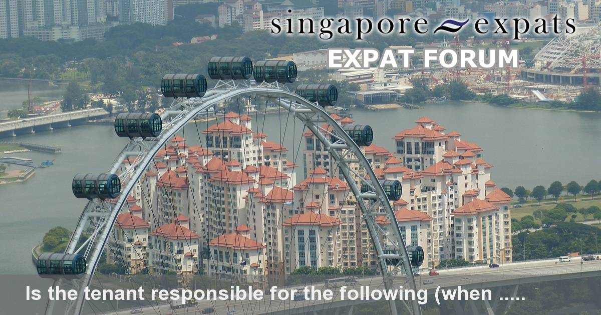 Is The Tenant Responsible For The Following When Moving Out Singapore Expats Forum
